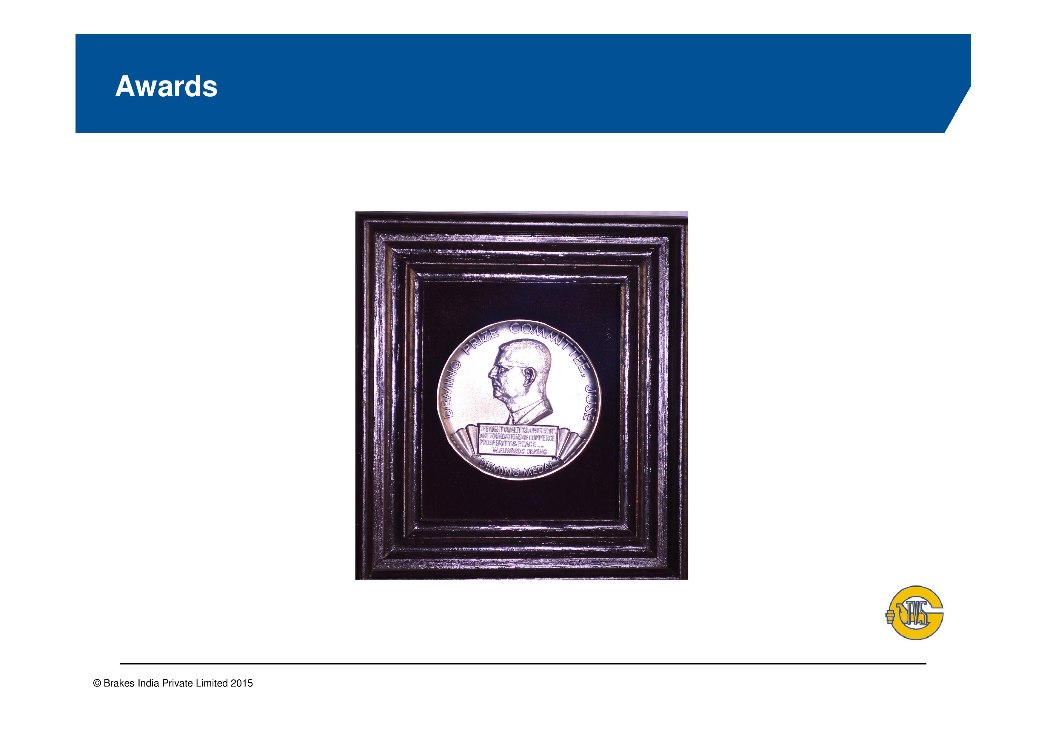 demings award After about two years in cody, deming's father took advantage of a home-   1927, deming was not formally awarded the degree (in mathematical physics.